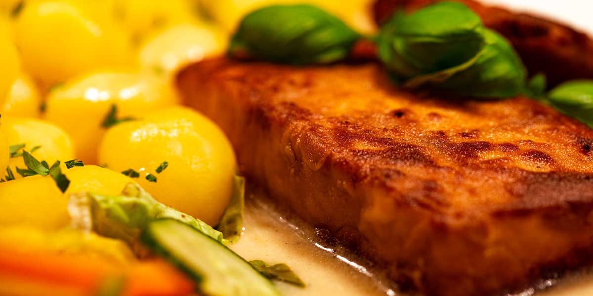 Essensvorschlag: Lachsfilet Gasthof Bauernhannla