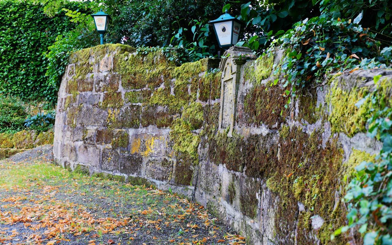 Biergarten Steinmauer Gasthof Bauernhannla