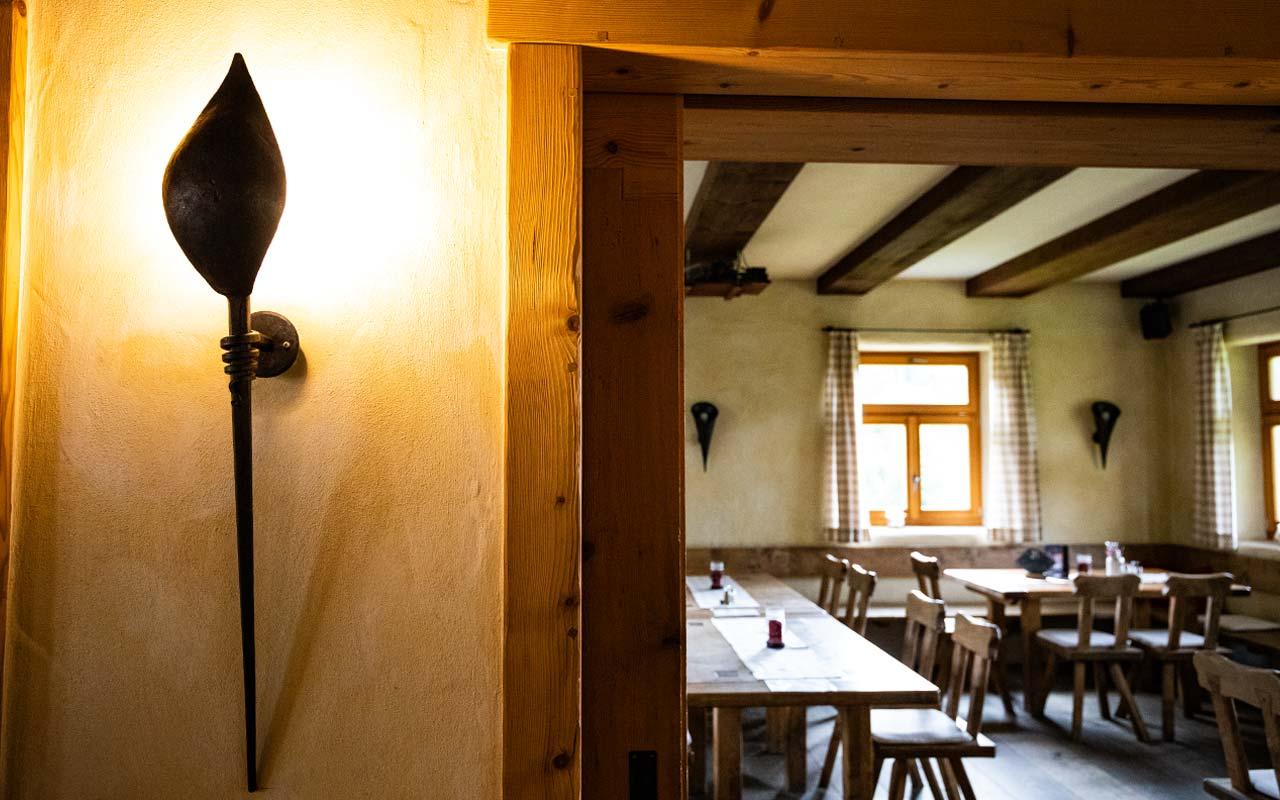 Wandleuchte Handgefertigt Gasthof Bauernhannla