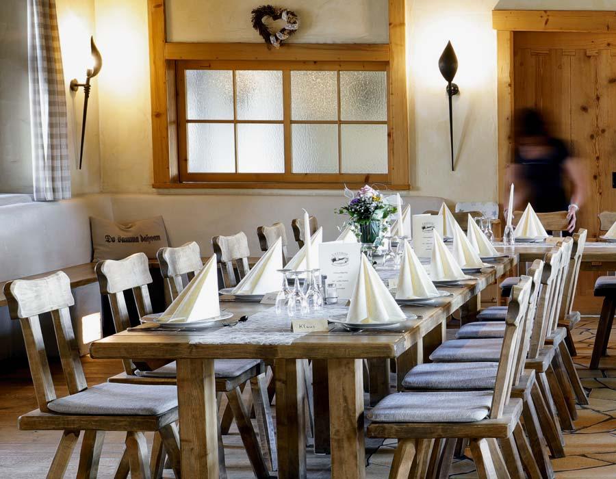 Dekorationsbeispiel Feiern Gasthof Bauernhannla