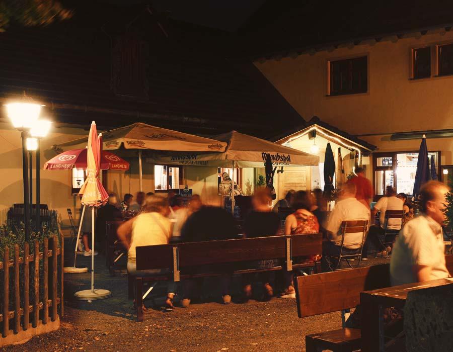 Unser Biergarten Feiern Gasthof Bauernhannla