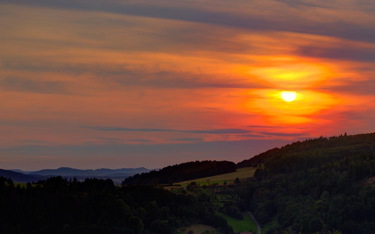 Sonnenuntergang Gasthof Bauernhannla