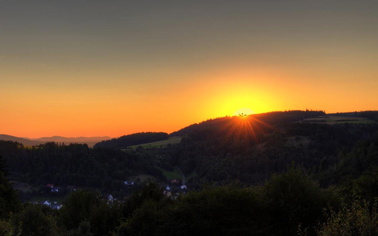 Sonnenuntergang (gleich Is Sie Weg) Gasthof Bauernhannla