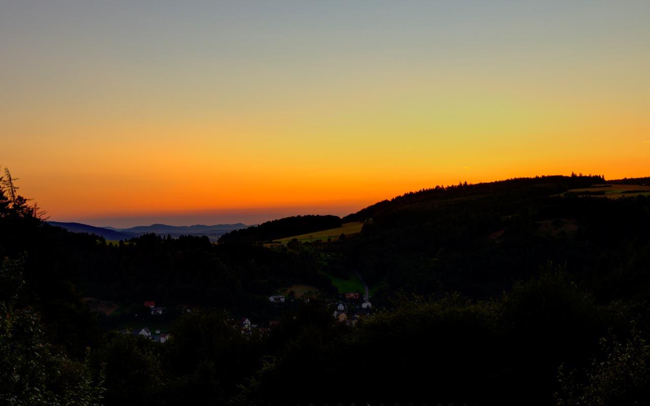 Sonnenuntergang (Nachglühen) Gasthof Bauernhannla