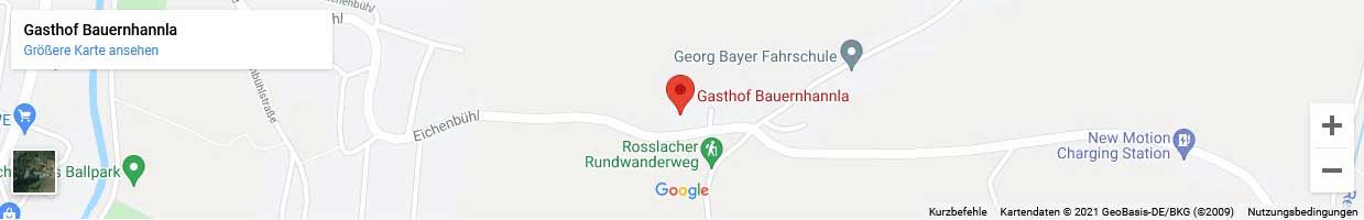 Google Maps Karte Von Gasthof Bauernhannla